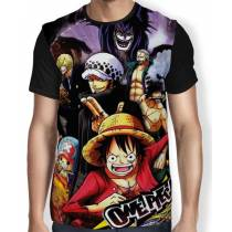 Camisa FULL Sanji Zoro Luffy Chopper Law Smoke - One Piece