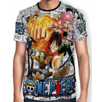 Camisa Full Print - Mangá One Piece
