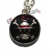 OP-58 - Colar Medalha Luffy Preta