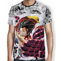 Camisa Full Print Mangá Gear 4 Luffy - One Piece