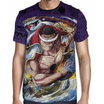 Camisa Full Print Purple Mangá Barba Branca - One Piece