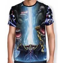 Camisa Full Print - Blue Skull Overlord