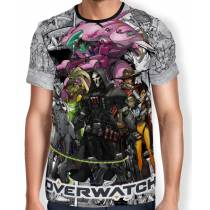 Camisa Full Print Mangá Reaper Tracer D.va - Overwatch