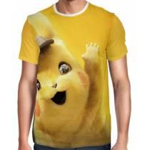 Camisa Full Print Detetive Pikachu Modelo 2 - Pokémon