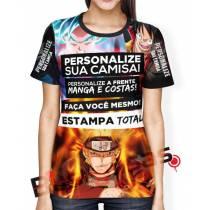 Camisa Estampa Total - Frente - Costas- Mangas - Feminina