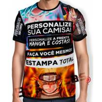 Camisa Estampa Total - Frente - Costas- Mangas - Unissex