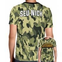 Camisa Full PRINT Camuflada Normal PUBG Logo - Personalizada Modelo Apenas Nick Name
