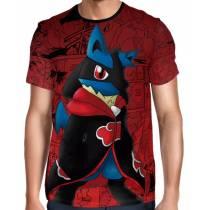 Camisa Full Print Pokemon - Lucario Akatsuki