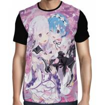 Camisa FULL Emilia e Rem - Re: Zero
