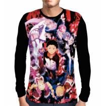 Camisa Manga Longa Main Characters - Re: Zero