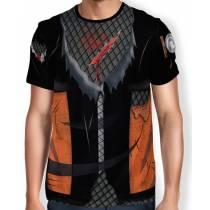 Camisa Full Print Colete Roupa Uniforme Cosplay Naruto Modelo 1