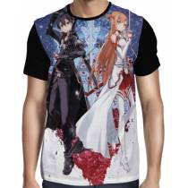 Camisa Full Creations - Kirito - Asuna - Sword Art Online