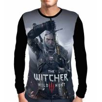 Camisa Manga Longa The Witcher 3 - Geralt de Rivia