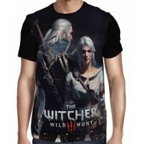 Camisa FULL  Ciri e Geralt - The Witcher 3
