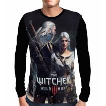 Camisa Manga Longa Ciri e Geralt - The Witcher 3
