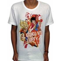 Camisa SB - TN Son Goku VS Luffy