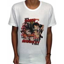 Camisa SB - TN Luffy E Goku