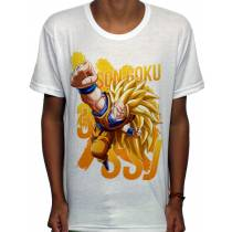 Camisa SB - TN Goku Punch Super Saiyan 3 - Dragon Ball Z