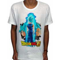 Camisa SB - TN Saiyan God Vegetto Blue - Dragon Ball Super