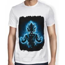 Camisa SB - TN Moldura Goku SSJ Blue - Dragon Ball Super