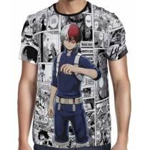Camisa Full PRINT Mangá Shoto Todoroki - Boku No Hero Academia