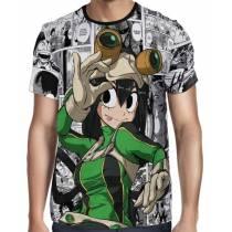 Camisa Full PRINT Mangá Tsuyu Asui Modelo 1 - Boku No Hero Academia