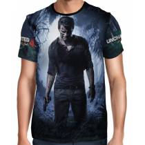 Camisa Full Print Nathan Drake - Uncharted 4: A Thief's End