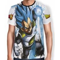 Camisa Full Art Brusher Super Saiyan Blue Vegeta - Dragon Ball Super