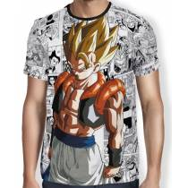 Camisa Full Print Mangá Gogeta - Dragon Ball Super