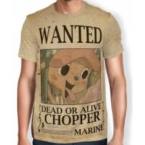 Camisa Full Print Wanted Chopper V2 - One Piece