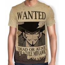 Camisa Full Print Wanted Dracule Mihawk V1 - One Piece