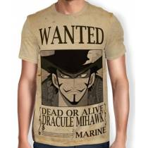 Camisa Full Print Wanted Dracule Mihawk V2 - One Piece