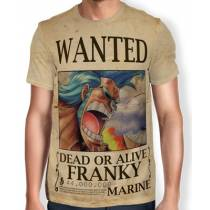 Camisa Full Print Wanted Franky V1 - One Piece