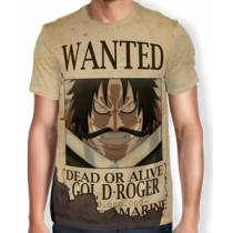 Camisa Full Print Wanted Gol D Roger - One Piece