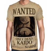 Camisa Full Print Wanted Kaido Com Recompensa - One Piece
