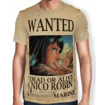 Camisa Full Print Wanted Nico Robin V1- One Piece