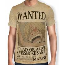 Camisa Full Print Wanted Sanji V3 - One Piece