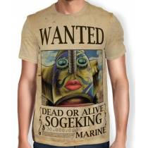 Camisa Full Print Wanted Sogeking - One Piece
