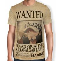 Camisa Full Print Wanted Trafalgar Law V2 - One Piece