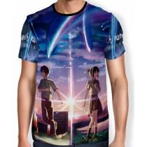 Camisa Full Print Kataware Doki- Kimi No Na Wa - Your Name