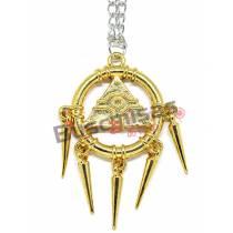 YUG-04 - Colar Anel do Milenio Dourado - Yu-Gi-OH