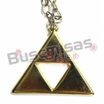 ZE-11 - Colar Triforce Dourado - The Legend of Zelda