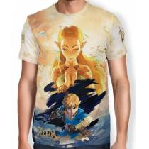 Camisa Full Print The Legend of Zelda - Breath of the Wild - Link