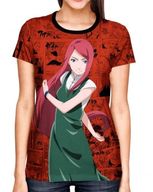 Camisa Full Print Color Mangá Exclusiva - Kushina Modelo 02 - Naruto