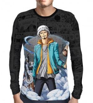 Camisa Manga Longa Dark Mangá Law - One Piece - Print