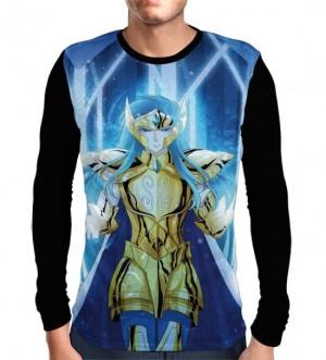 Camisa Manga Longa Camus de Aquário - Saint Seiya - Cavaleiros do Zodiaco