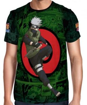 Camisa FULL Print Green Mangá Kakashi - Naruto