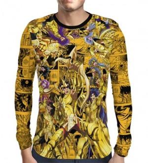 Camisa Manga Longa Cavaleiros de Ouro  - Cavaleiros do Zodiaco