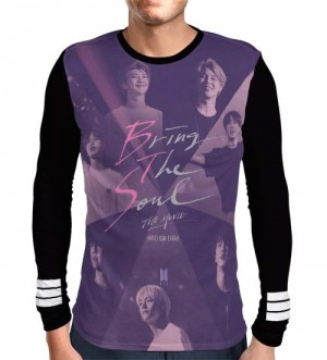 Camisa Manga Longa Print BTS Movie - Bring The Soul - K-Pop