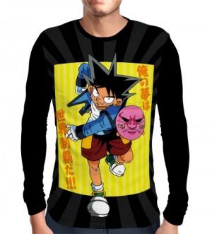 Camisa Manga Longa Bucky - Jibaku-kun